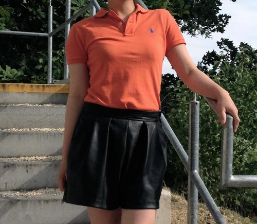 blouse orange outfits clothing
